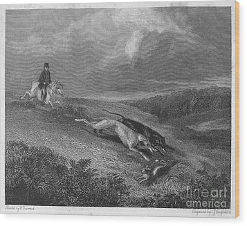 England: Coursing, 1833 Wood Print by Granger