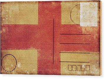England Flag Postcard Wood Print by Setsiri Silapasuwanchai