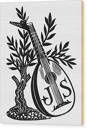 English Bookplate Wood Print by Granger