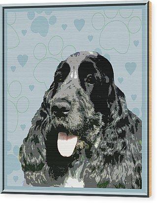 English Cocker Spaniel Wood Print by One Rude Dawg Orcutt