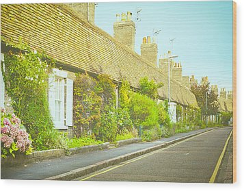 English Cottages Wood Print by Tom Gowanlock