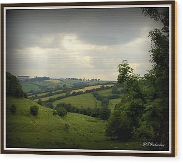 English Countryside Wood Print by Priscilla Richardson