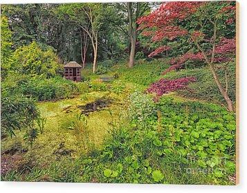 English Garden  Wood Print by Adrian Evans