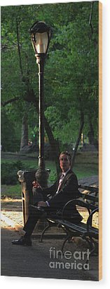 Enjoying The Moment In Central Park II Wood Print by Lee Dos Santos