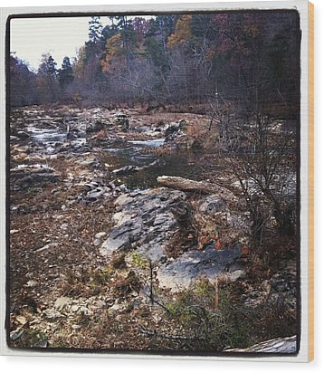 Eno River Wood Print