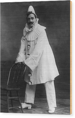 Enrico Caruso 1873-1921, As The Clown Wood Print by Everett