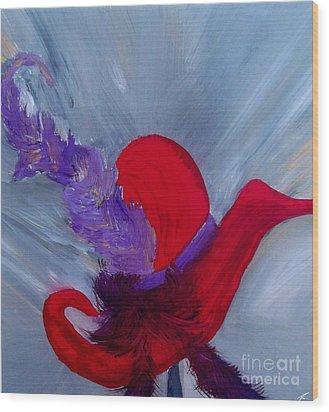 Ensemble Chapeau Rouge Wood Print by Ayasha Loya