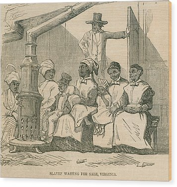 Enslaved African American Women Wood Print by Everett