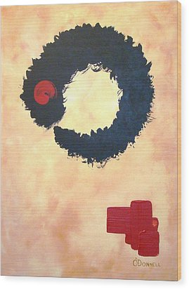 Enso Abstract Wood Print by Stephen P ODonnell Sr
