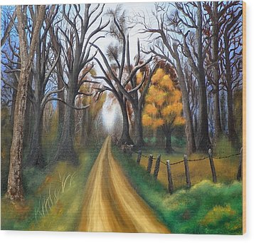 Entangled Wood Print by Amity Traylor