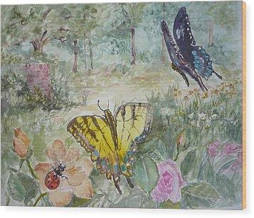 Enter The Garden Wood Print by Dorothy Herron