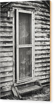 Enter Through The Back Door Wood Print by John Rizzuto