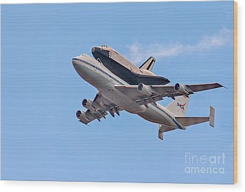 Enterprise Space Shuttle  Wood Print by Susan Candelario