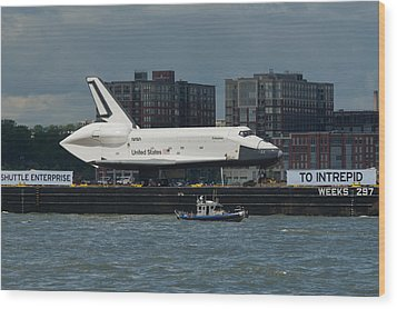 Enterprise To Intrepid Wood Print by Gary Eason