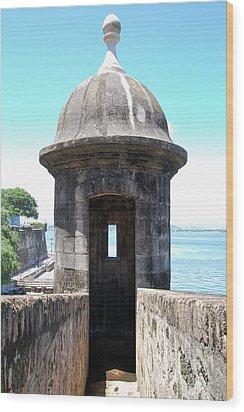 Entrance To Sentry Tower Castillo San Felipe Del Morro Fortress San Juan Puerto Rico Wood Print by Shawn O'Brien