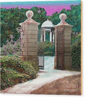 Entrance To The Garden Wood Print by Earl Jackson