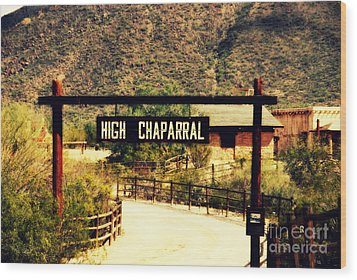 Entrance To The High Chaparral Ranch Wood Print by Susanne Van Hulst