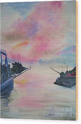 Entry To Lake Ontario Wood Print by Judy Via-Wolff