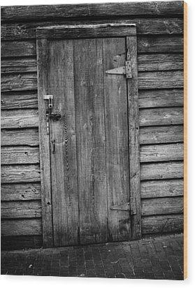 Portrait Of Old Door Wood Print