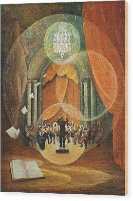 Envolee Lyrique Wood Print by Frank Godille