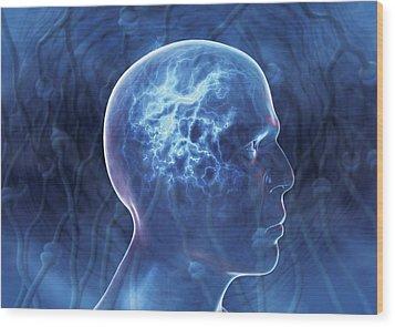 Epilepsy, Conceptual Artwork Wood Print by David Mack