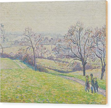 Epping Landscape Wood Print by Camille Pissarro