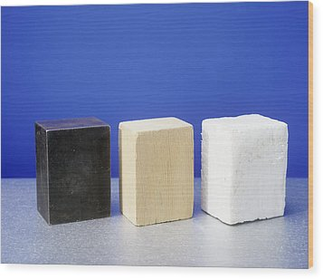 Equal Volumes Of Different Materials Wood Print by Andrew Lambert Photography