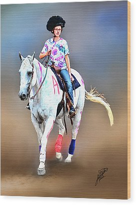 Equestrian Competition II Wood Print by Tom Schmidt