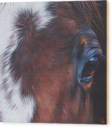 Equine 1 Wood Print by Elena Kolotusha