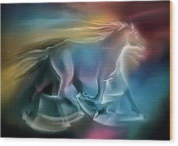 Equus Caballuscomp 1984 Wood Print by Glenn Bautista