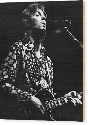 Eric Clapton 1967or 8 In Cream Wood Print