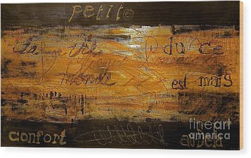 Eric Maskin On Sovereign Man Wood Print by Contemporary Luxury Fine Art