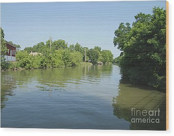 Wood Print featuring the photograph Erie Canal by William Norton