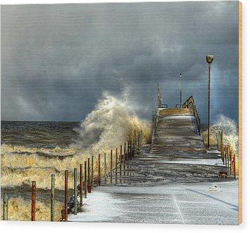 Erie Storm Wood Print