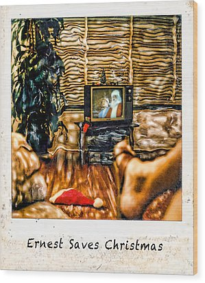 Ernest Saves Christmas Wood Print by Lou  Novick