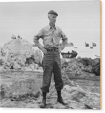 Ernie Pyle (1900-1945). American Journalist. Photograph, C1942 Wood Print by Granger