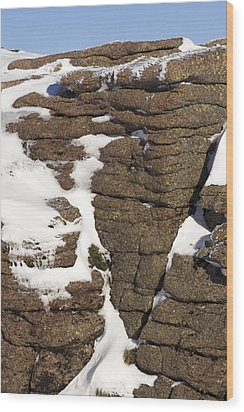 Eroded Granite Wood Print by Duncan Shaw