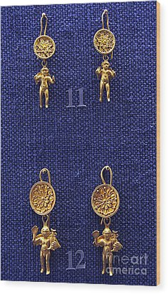 Erotes Earrings Wood Print by Andonis Katanos