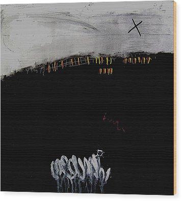 Eruption  Vii Wood Print by Jorgen Rosengaard