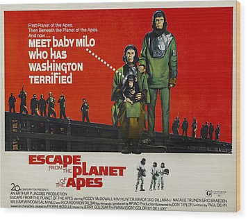 Escape From The Planet Of The Apes, L-r Wood Print by Everett