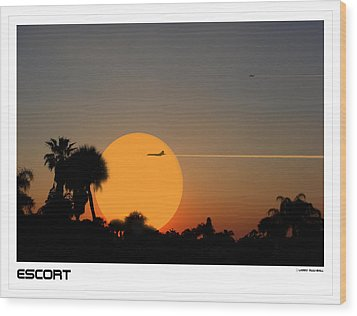 Escort Wood Print by Larry Mulvehill