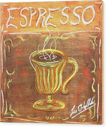 Espresso Wood Print by Lee Halbrook