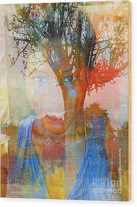 Esprit Du Baobab Wood Print by Fania Simon