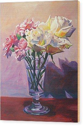 Essence Of Rose Wood Print by David Lloyd Glover