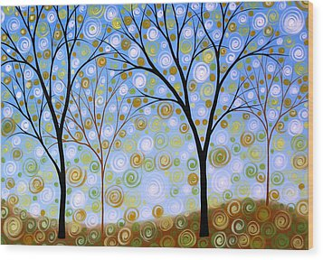 Essence Of The Day Wood Print by Amy Giacomelli