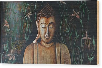 Essence Of Tranquility Wood Print by Tanuja Chopra