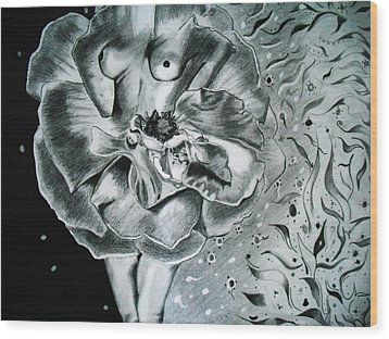 Essence Wood Print by Saheed Fawehinmi