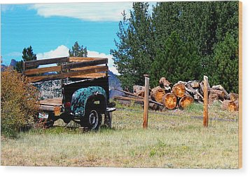 Estes Park Back Yard Wood Print