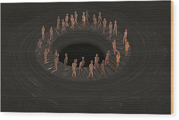 Eternity Ring Wood Print by Eric Kempson
