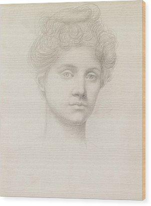Ethel Pickering Wood Print by Evelyn De Morgan